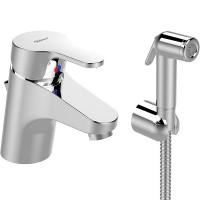 VIDIMA JOY Смесител за умивалник с хигиенен душ и изпразнител B0466AA