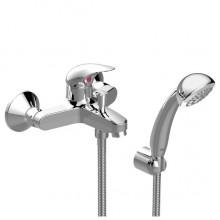 VIDIMA ORION Смесител за вана и душ с окачване, шлаух и ръчен душ B4227AA