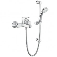 VIDIMA SEVANEXT Смесител за вана и душ с шлаух, тръбно окачване и ръчен душ B1931AA
